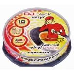 CD-R Esperanza 700MB 48X, black vinyl 10tk/tornis