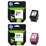 Tint HP N9K07AE värviline (304XL)