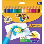 Värvipliiats BIC Kids Aquacouleur 24 värvi